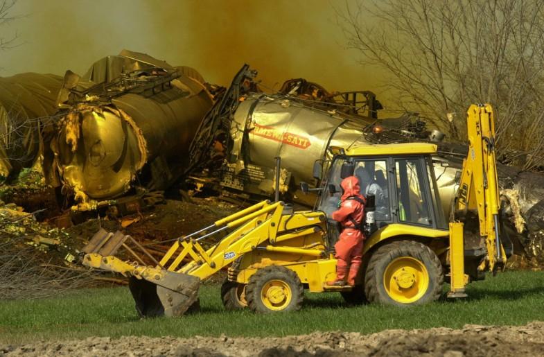 accident train produits chimiques