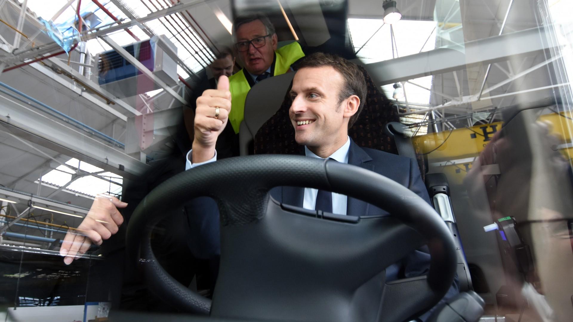 Emmanuel Macron chez Iveco Bus