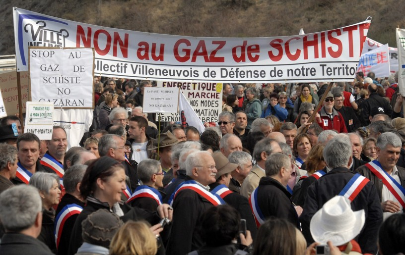 manifestation gaz de schiste